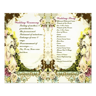 cute vintage wedding program