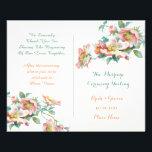 """cute vintage wedding program<br><div class=""""desc"""">wedding program</div>"""