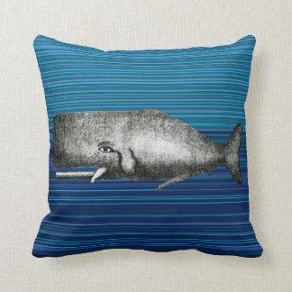 Cute Vintage Whale Pillow