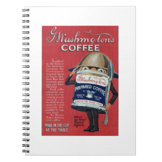 Cute Vintage WWI Coffee Can Spiral Notebook