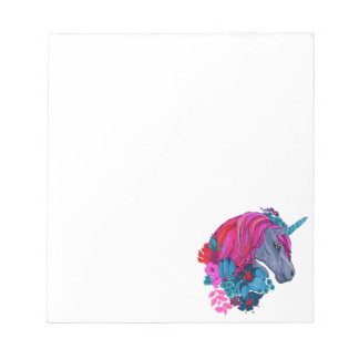 Cute Violet Magic Unicorn Fantasy Illustration Notepad