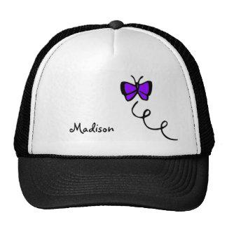 Cute Violet Purple Butterfly Mesh Hats