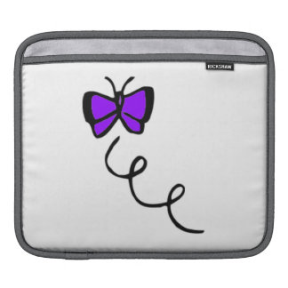 Cute Violet Purple Butterfly Sleeves For iPads