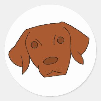 Cute Vizsla Classic Round Sticker