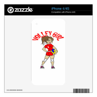 CUTE VOLLEY GIRL DECAL FOR THE iPhone 4S