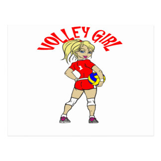 CUTE VOLLEY GIRL POSTCARD