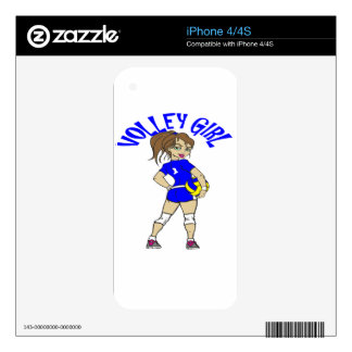 CUTE VOLLEY GIRL SKIN FOR THE iPhone 4S