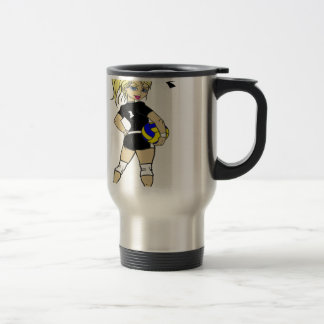 CUTE VOLLEY GIRL TRAVEL MUG