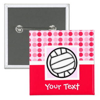 Cute Volleyball Pinback Button