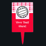 """Cute Volleyball Cake Topper<br><div class=""""desc"""">You will love this cute pink / red polka dot pattern volleyball player girl design. Great for gifts! Available on tee shirts, smart phone cases, mousepads, keychains, posters, cards, electronic covers, computer laptop / notebook sleeves, caps, mugs, and more! Visit our site for a custom gift case for Samsung Galaxy...</div>"""