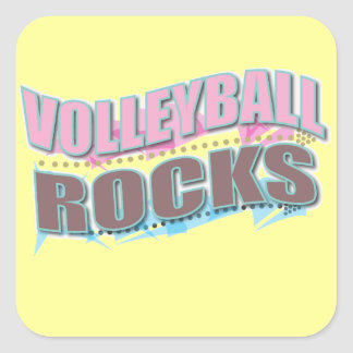 Cute Volleyball Gifts for Volleyball Players Square Sticker