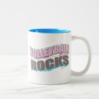 Cute Volleyball Gifts for Volleyball Players Two-Tone Coffee Mug
