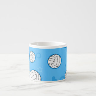 Cute Volleyball Pattern Blue Espresso Cup