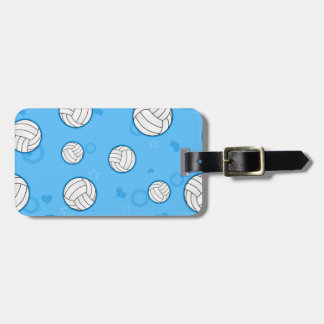 Cute Volleyball Pattern Blue Luggage Tag