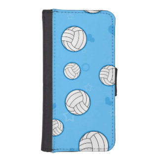 Cute Volleyball Pattern Blue iPhone 5 Wallet Case