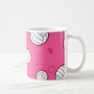 Cute Volleyball Pattern Pink Coffee Mug