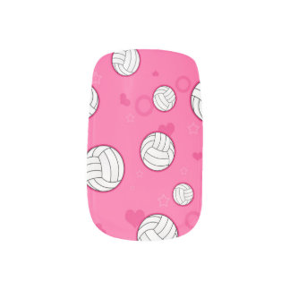 Cute Volleyball Pattern Pink Minx ® Nail Wraps