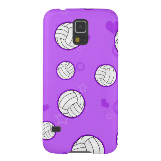 Cute Volleyball Pattern Purple Galaxy S5 Case