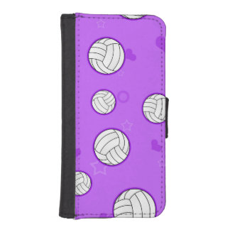 Cute Volleyball Pattern Purple iPhone 5 Wallet