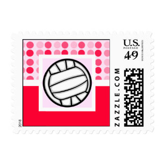 Cute Volleyball Postage Stamps