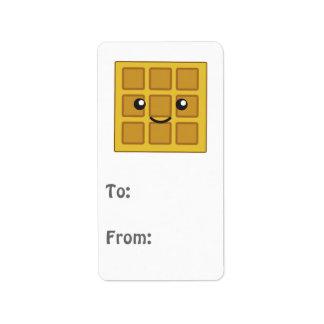 Cute Waffle Label