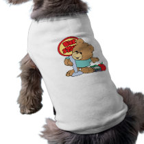 cute waiting at the bus stop school bear tee