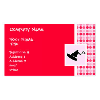 Cute Wakeboarder Double-Sided Standard Business Cards (Pack Of 100)