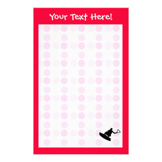 Cute Wakeboarder Customized Stationery