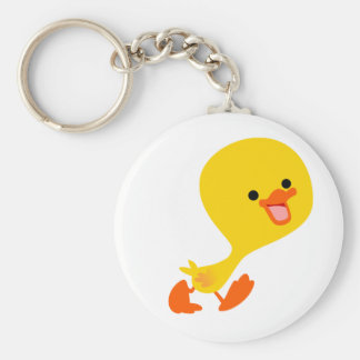Cute Walking Cartoon Duckling Keychain
