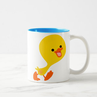 Cute Walking Cartoon Duckling Mug