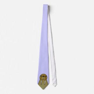 Cute Walrus Cartoon Neck Tie