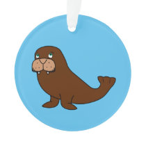 Cute Walrus Ornament