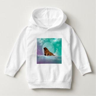 Cute walrus with water splash tshirts