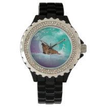 Cute walrus with water splash watch