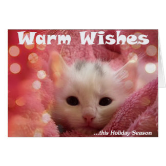 Cute Warm Animal Holiday Greeting Card