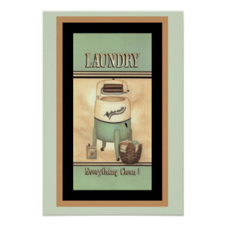 Cute Wash-O-Matic Vintage Ad Poster