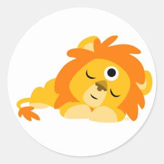 Cute Watchful Cartoon Lion sticker