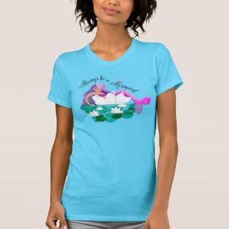 Cute Water Lily Mermaid Women's T-Shirt