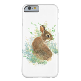 Cute Watercolor Bunny Rabbit Animal art Barely There iPhone 6 Case