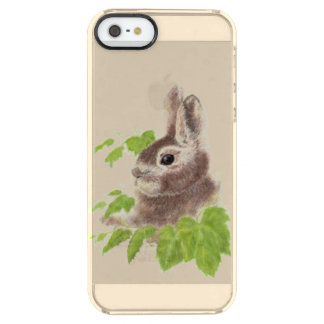Cute Watercolor Bunny Rabbit Animal art Clear iPhone SE/5/5s Case