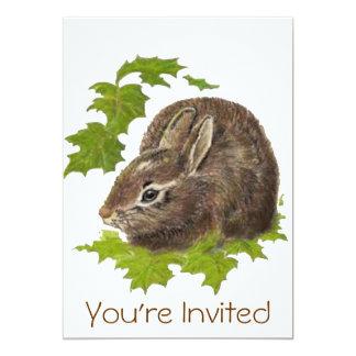 Cute Watercolor Bunny Rabbit Birthday Party Invite