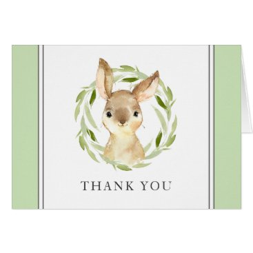 Cute Watercolor Bunny Thank You Card