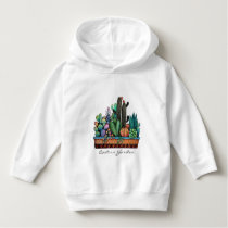 Cute Watercolor Cactus Garden In Pot Hoodie