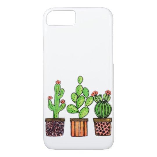 ada17d413b Cute Watercolor Cactus In Pots Case-Mate iPhone Case | Zazzle.com
