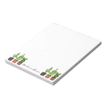 oirabot Cute Watercolor Cactus In Pots Notepad