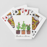 "Cute Watercolor Cactus In Pots Playing Cards<br><div class=""desc"">Cute watercolor cactus in pots. Designed for cactus lovers. Can be a perfect gift. Customize it with different background color,  words or just enjoy as it is. :)</div>"
