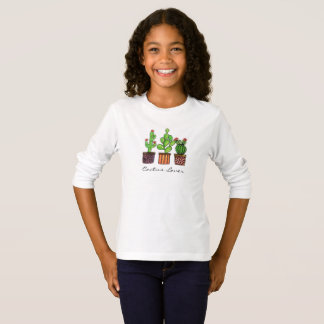 Cute Watercolor Cactus In Pots T-Shirt
