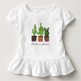 Cute Watercolor Cactus In Pots Toddler T-shirt