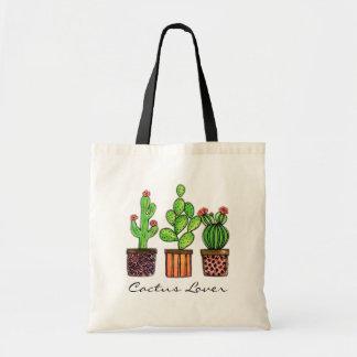 Cute Watercolor Cactus In Pots Tote Bag