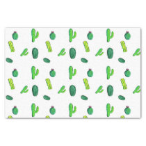 Cute Watercolor Cactus Patterned Tissue Paper